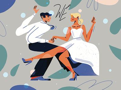 Wedding vibe! wife husband newmarried couple dancing