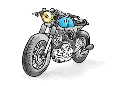 Momercycle Illustrator Sketch