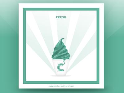 Fresh on DesignersMX fresh music ice cream summer hot green mint