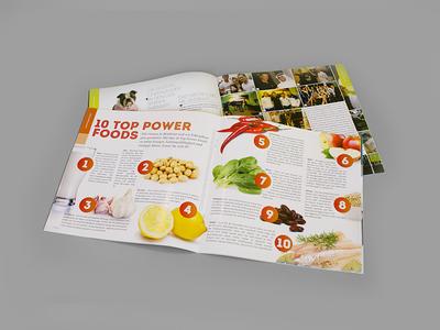 Mandu Magazin - Inside fitness graz vienna austria green graphic design print art direction magazine
