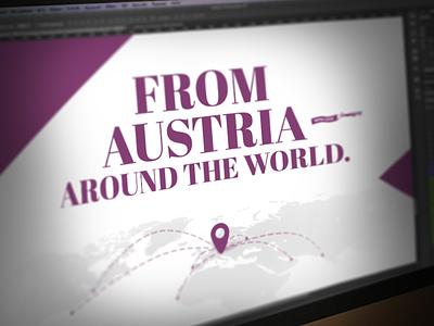 Quagga web project lila purple white world landscape fly austria