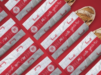 """Baked with love"" – Bread Bag branding austria packaging bag bakery"