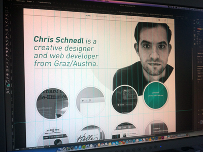 circle dance design web portfolio white clean classic circle