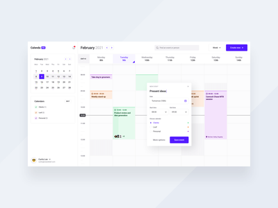 Desktop Calendar modal planner calendar app calendar dashboard appdesign webdesign productdesign uxdesign uidesign