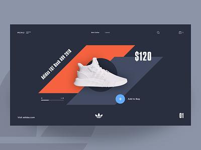Adidas EQT modern productpage adidas graphicdesign productdesign webdesign uxdesign uidesign