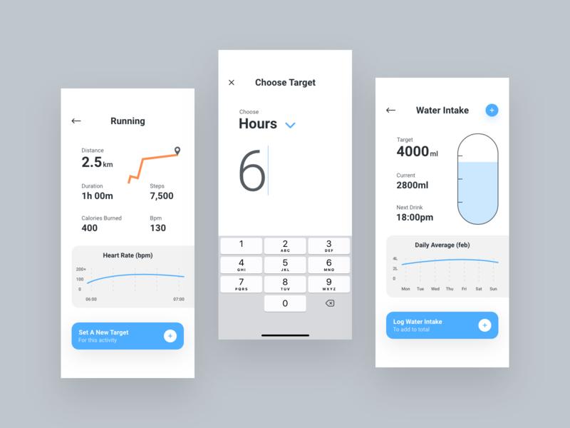 Health App Development typography ui app dashboard appdesign productdesign uxdesign uidesign