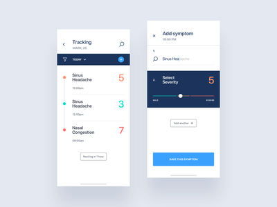 Symptom Tracker | Ada ux typography ui app appdesign graphicdesign webdesign productdesign uxdesign uidesign
