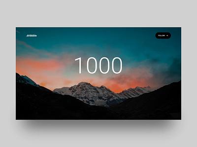 1000 Followers! graphicdesign 1000followers 1000 motiongraphics animation appdesign webdesign productdesign uxdesign uidesign