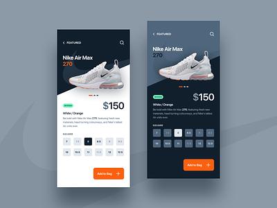 Air Max 270s airmax nike shoedesign shoestore ecommerce appdesign webdesign productdesign uxdesign uidesign
