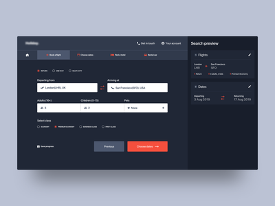 Choose Flights bookingflow travel holidaybooking travelapp dashboard appdesign webdesign productdesign uxdesign uidesign