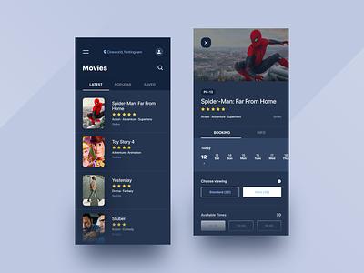 Cinema Booking cinemabooking app appdesign productdesign uxdesign uidesign
