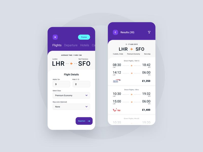 Find A Flight ui app appdesign productdesign uxdesign uidesign