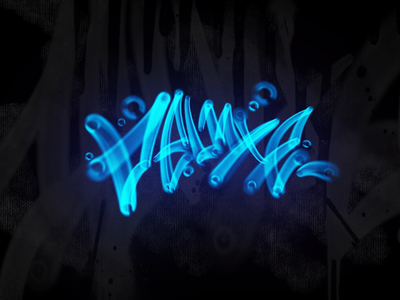 Deluxe - water lettering lettering graffiti