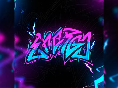 Lettering - Energy calligraphy lettering color illustration design lettering graffiti