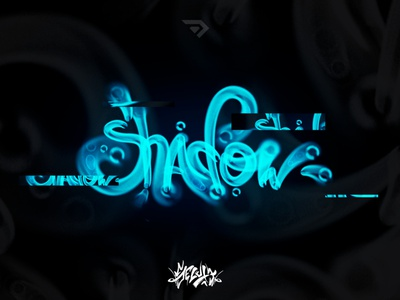 Lettering water style - Shadow illustration design lettering graffiti