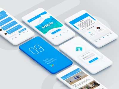 Ediple mobile application app design interface ux ui application