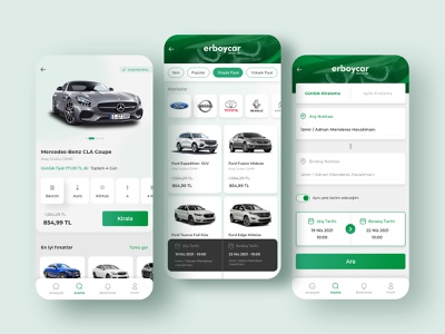 Car Rental Mobile Application Design mobile app car rental app creative trend ux clean ui