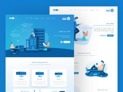 Parspack Website UI