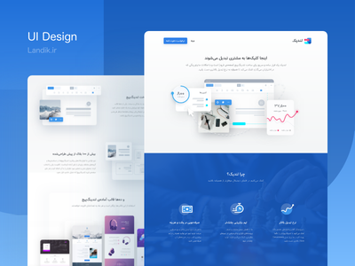 Landik.ir HomePage UI trend wireframe web ux branding clean ui ui dribbble creative illustration design