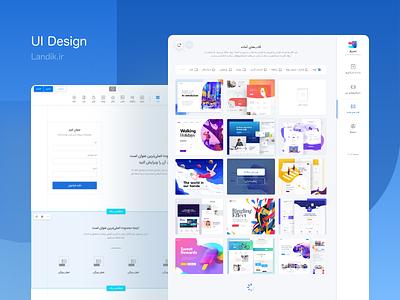 Landik.ir Panel and Editor UI trend branding web ux app ui clean ui dribbble creative design
