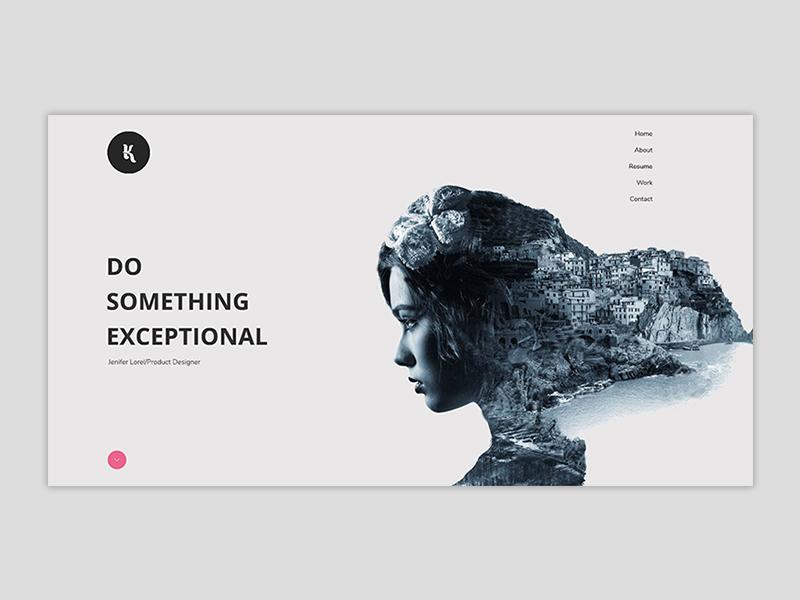Minimal Portfolio Design By Sharmin Shima Dribbble