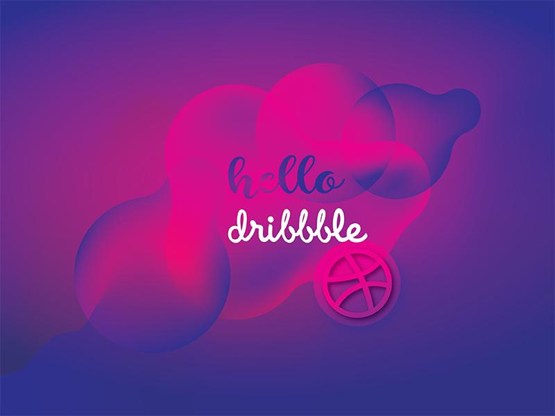 Hello Dribbble dribbblers dribble hello