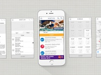Commonwealth Games 2014 Mobile App - Wireframes