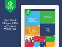 Commonwealth Games 2014 Mobile App - Main Menu