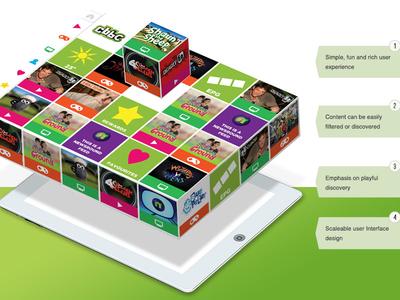 CBBC Mobile App - Initial Concept Idea explore entertainment children kids fun ux ui concept iphone ipad app mobile