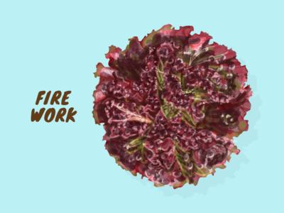 Fire Work vector artwork illustration