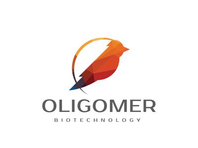 Oligomer identity bird of paradise king of saxony primer oligo polygon lowpoly oligomer rna dna logo