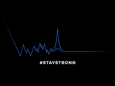Stay Strong minimal pray for paris heart beating peace strong stay paris pray