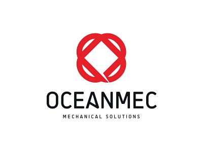 Oceanmec Logo energy atom symbol square circle solution machine logo oceanmec