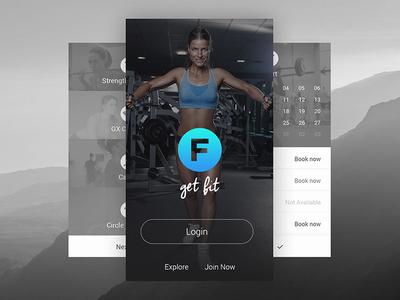 Fitness Mobile App ux ui ios minimal simple redesign fresh mobile app mobile app gym fitness