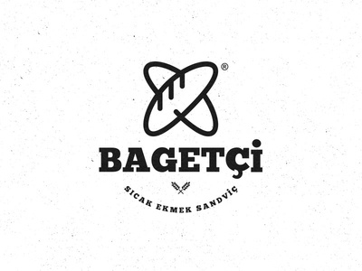 Baguette Restaurant Logo brand icon minimal simple sandwich restaurant recent logo food bread baguette bagette