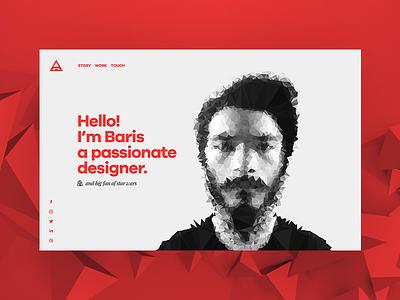 Personal Site modern responsive portfolio landing page clean minimal ui design site web web design ux ui