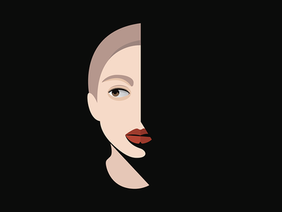 Mystery Girl yxlsyx beauty logo silhouette portrait person mystery girl face emotion dark character