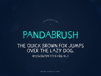 PandaBrush Font billboard movie poster pandabrush script font hand lettering lettering typeface script panda font brush