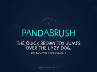PandaBrush Font