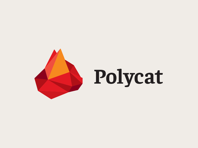 Polycat mark identity animal triangle low poly lowpoly poly cat sell logo design branding