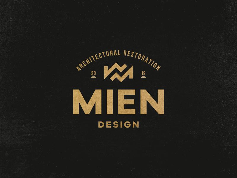 Mien Architecture restoration m letter m logo mien architect architecture logo architecture design vector typography branding symbol identity mark minimal logo