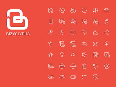Bizy Icon Sheet Sm stroke icons