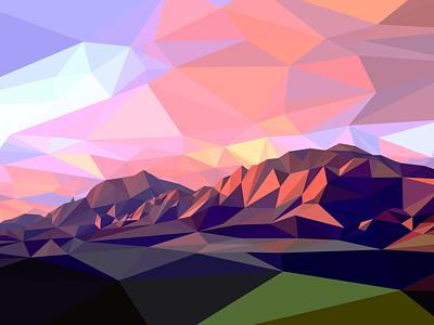 Low Poly Boulder mountains flat irons colorado low poly boulder