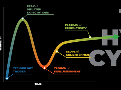 The Hype Cycle chart hype