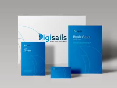 Stationery Digisails sail logotype logo graphic design digital d stationery branding brand identity brand design