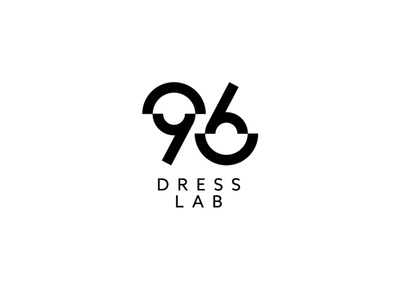 96 Dress Lab gestalt numbers identity logo design icon fashion 6 9 brand logo