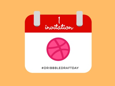 1 Dribbble Invite invitation behance portfolio shot dribbble dribbble invite invite dribbbledraftday