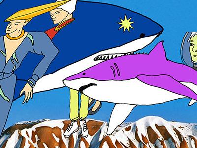 we bad lowart shark illustration