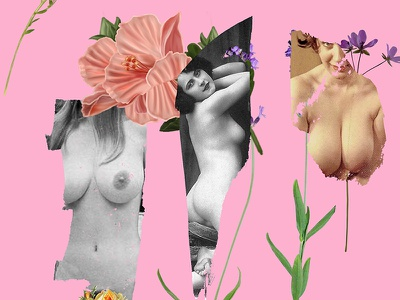Heavenly Creatures collage flowers girls