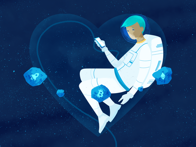 Crypto Valentine pt 2 single star universe space astroid ethereum bitcoin heart love valentines day valentine cryptocurrency crypto